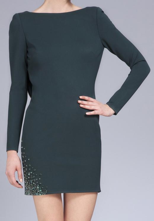 vestidos cortos de invitada con BDBA espalda