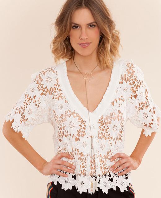camisas blancas de BDBA, encaje