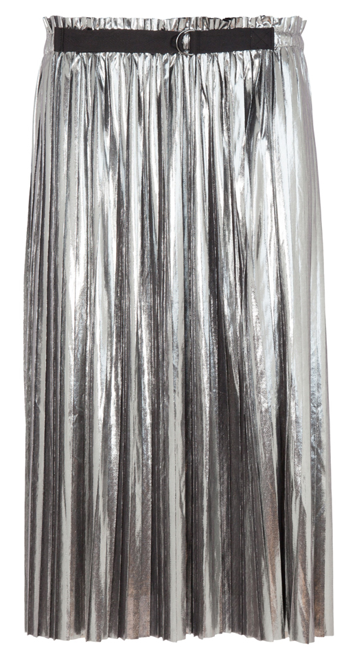 Faldas metalizadas . plateada BDBA