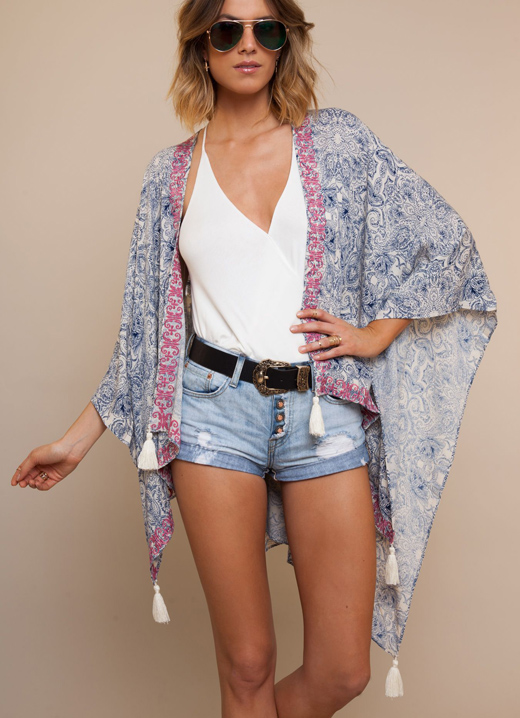 kimono con borlas de bDBA