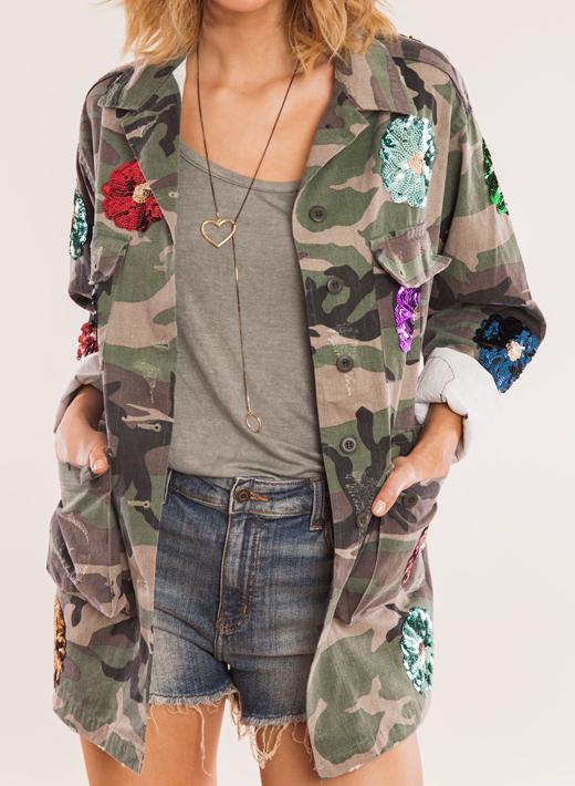 looks de entretiempo chaqueta militar