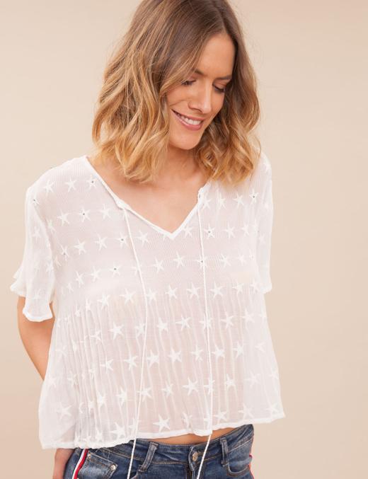 blusas negras o blusas blancas con BDBA camisa estrellas