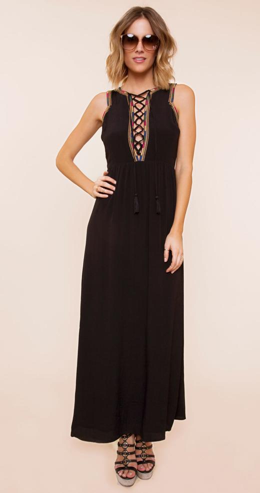 vestidos negros con BDBA largo