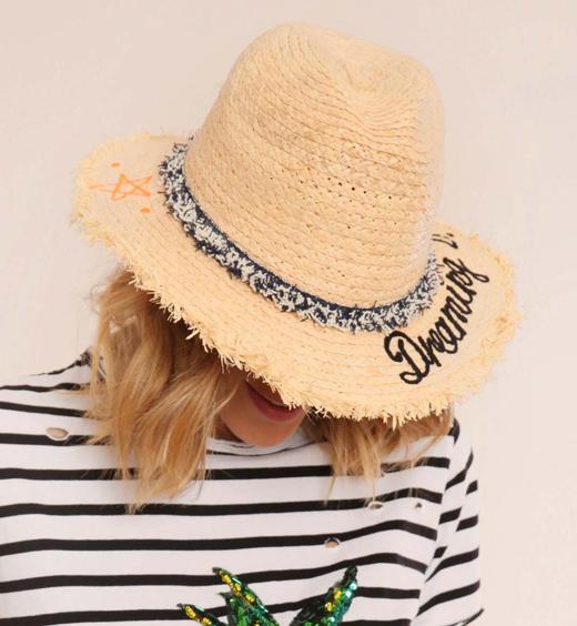 Sombreros con mensaje de BDBA sombrero panamá