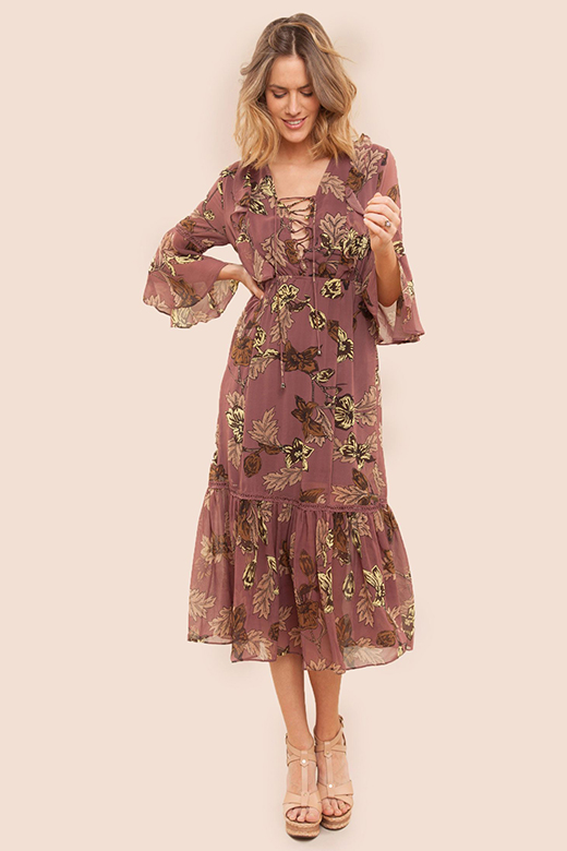 vestidos midi para verano en BDBA. manga larga