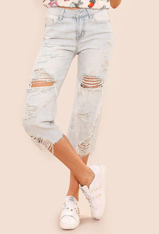 rebajas mid season en BDBA jeans rotos