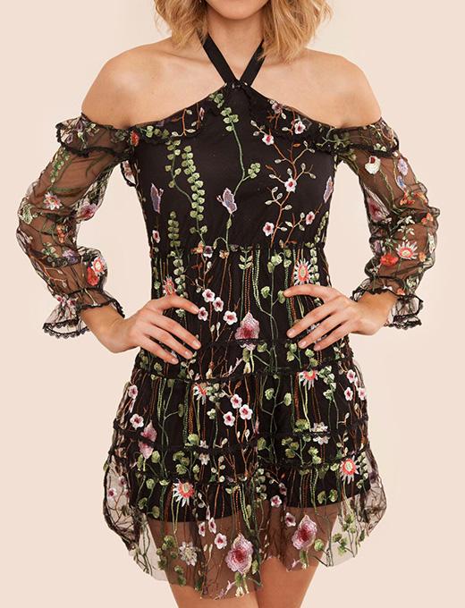 vestido de Adriana Ugarte negro de BDBA