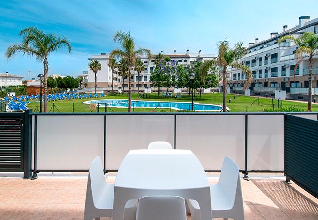 Alquiler de casas vacacionales de 2 dormitorios con terraza
