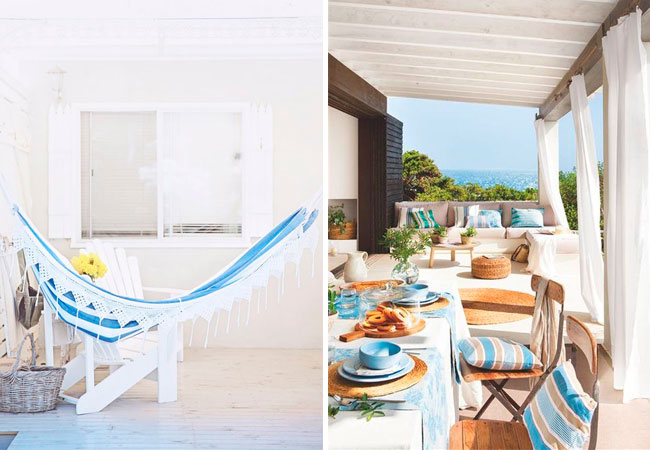 Ideas para decorar la terraza de tu casa de la playa