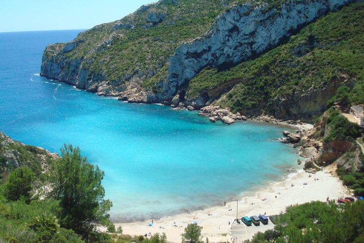 Playas de la costa blanca: La Granadella (Jávea)