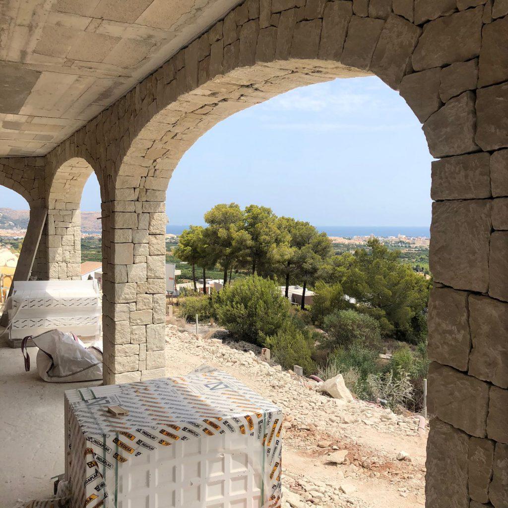 Vistas de la obra nueva en Jávea de CHG