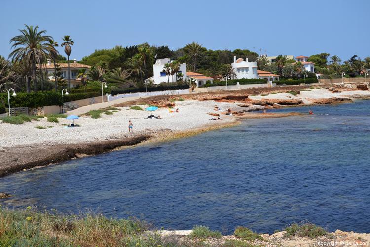 Playas de la costa blanca: Playa de la Punta Negra