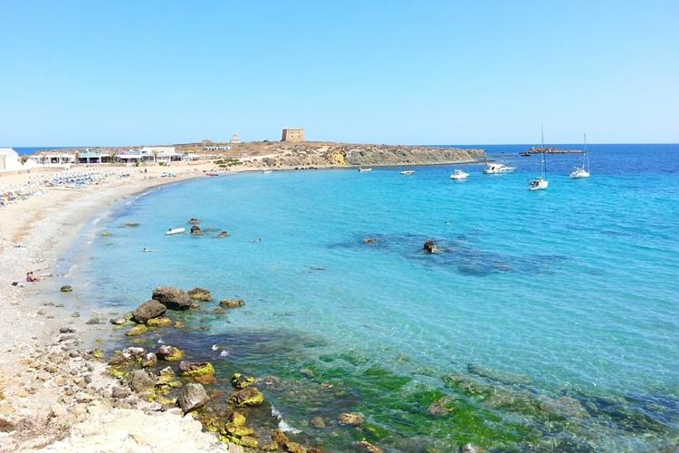 Playas de la costa blanca: Playa de la isla de Tabarca