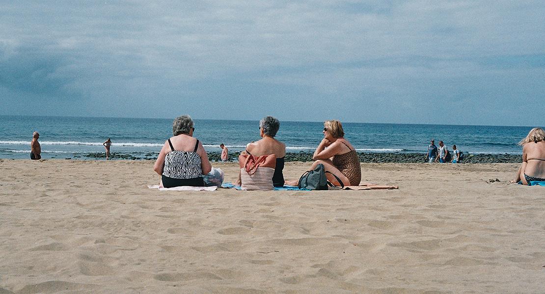 Jubilación en la playa
