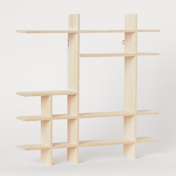 Estantería de madera para niños