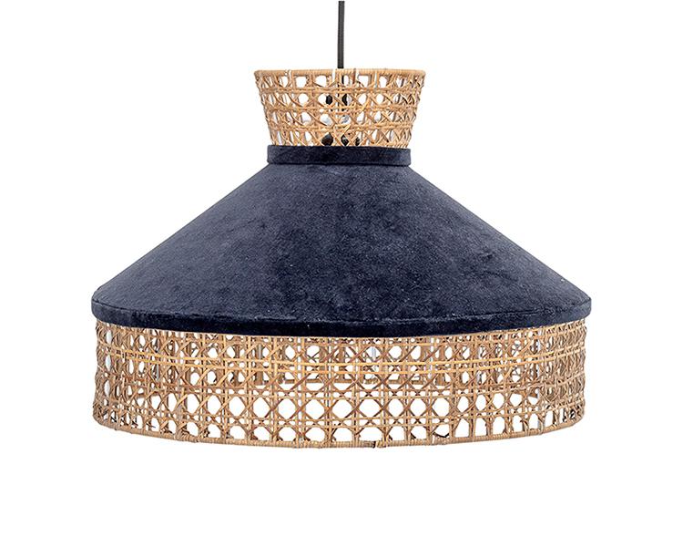 Lámpara de techo con terciopelo