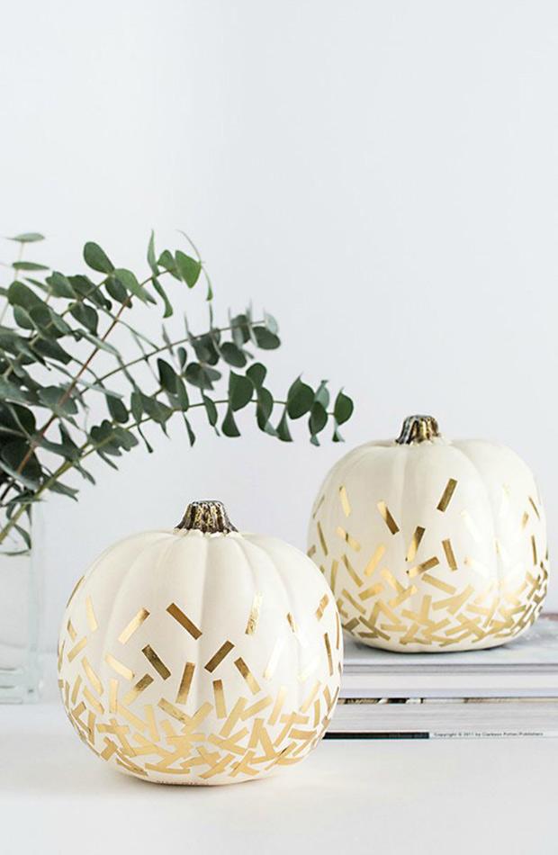 calabazas pintadas decoracion para halloween