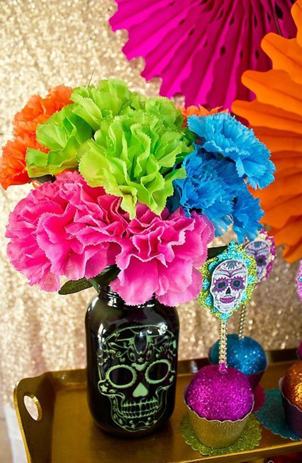 dia de muertos mexicano decoracion para halloween