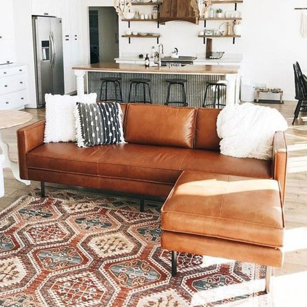 division de espacios con sofa