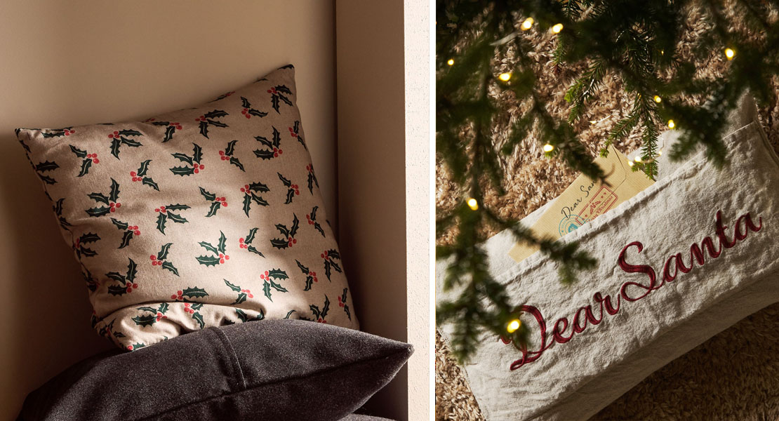 Cojines navideños de Zara Home