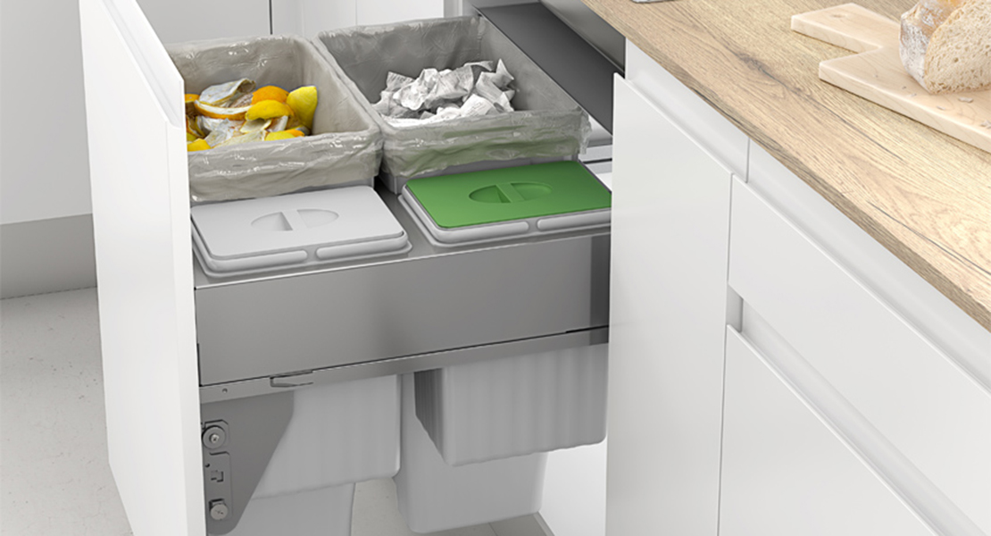 cubos con divisiones reciclaje en casa