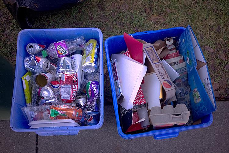 separación de basura reciclar en casa