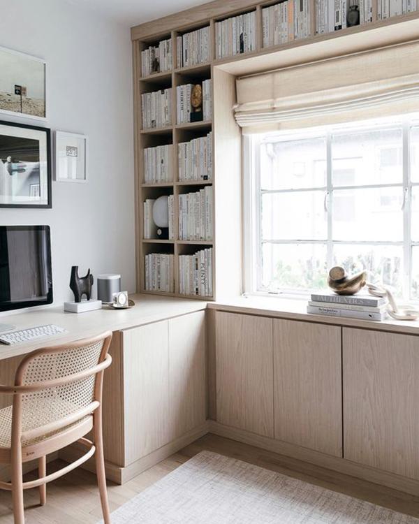 decoración Pinterest escritorio madera minimalista