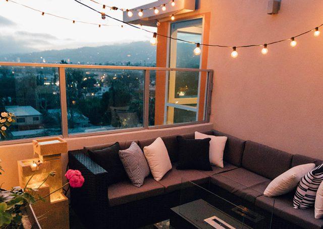La terraza también se disfruta en invierno