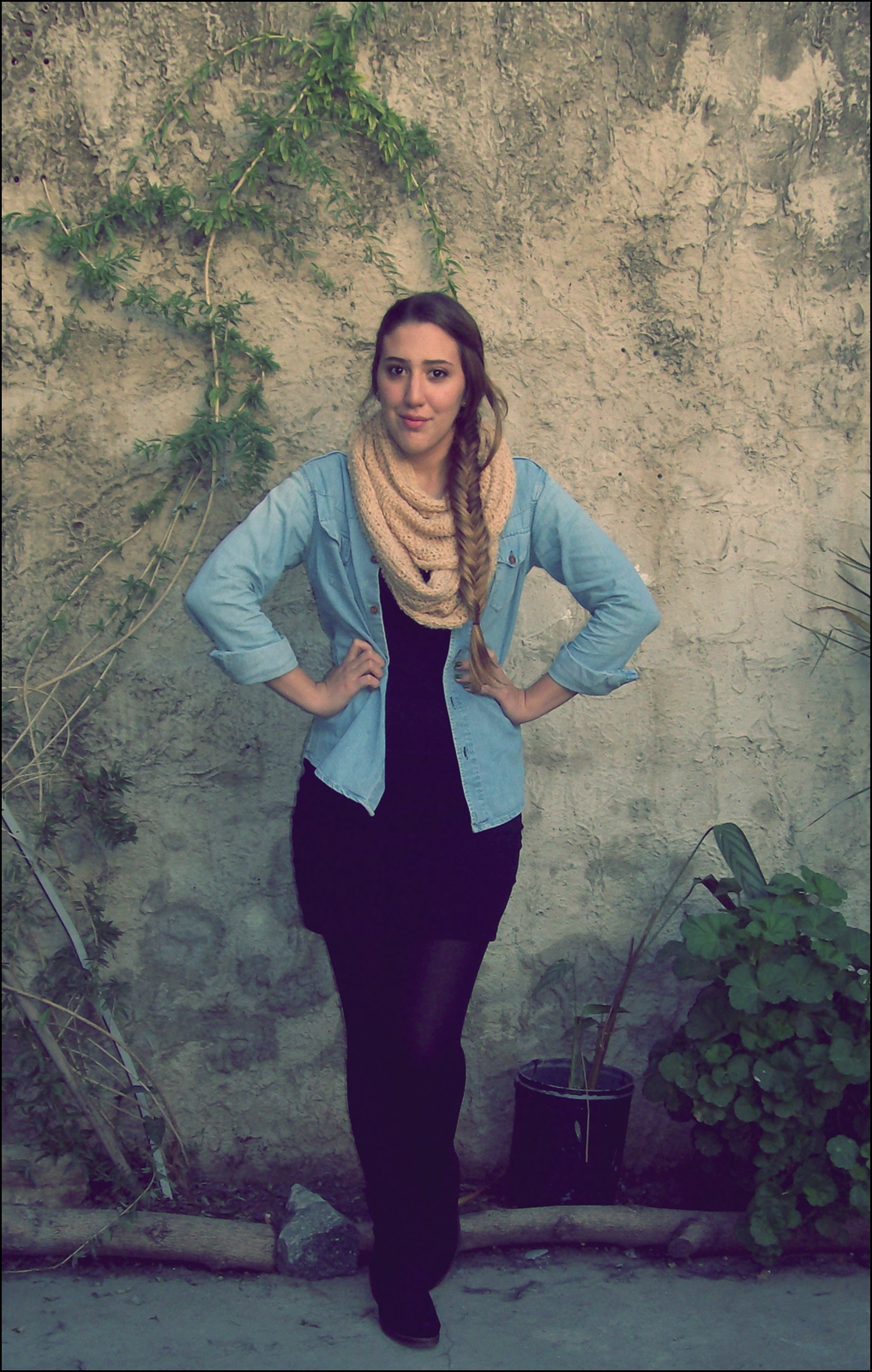 Denim and scarf!-48461-chic-style