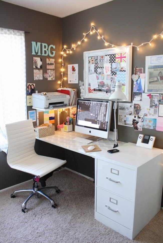 Домашний офис, рабочее место в интерьере. / разное / все для.