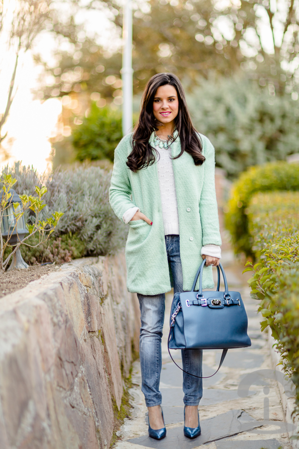 Abrigo mint coat Crimenes de la Moda