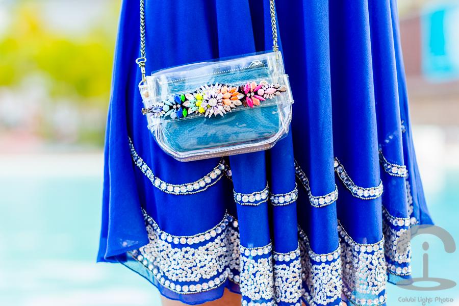 Vestido azul en Punta Cana