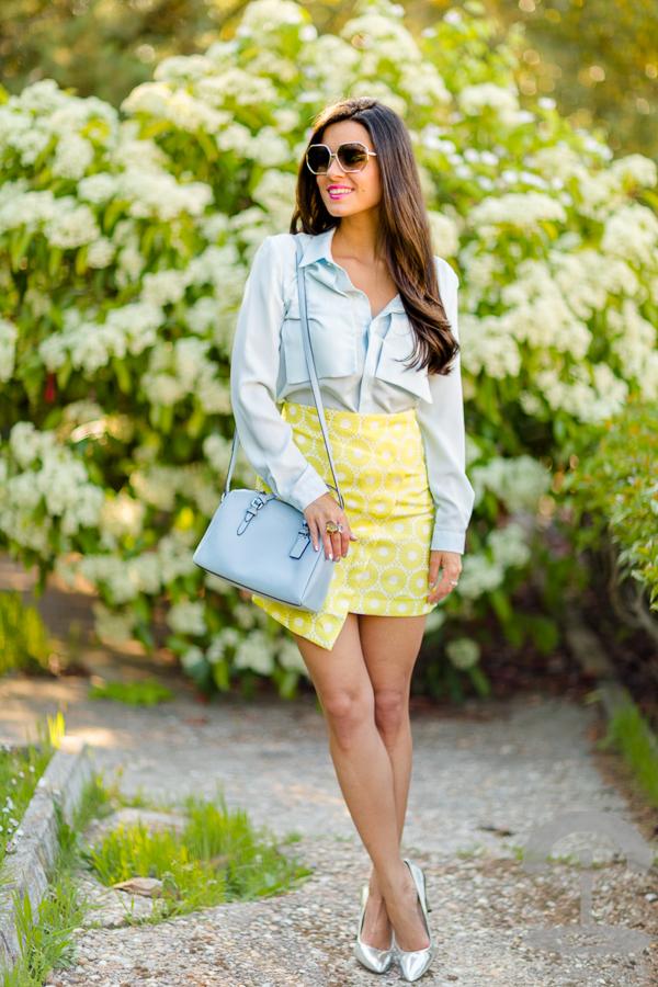 Amarillo y azul celeste Crimenes de la Moda
