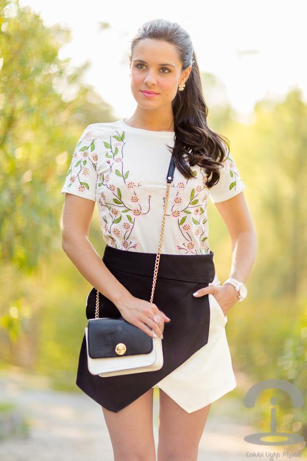 Blanco, negro y flores Crimenes de la Moda