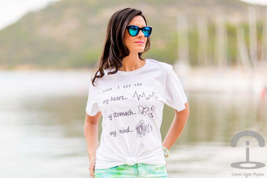 Camiseta con mensaje Crimenes de la Moda