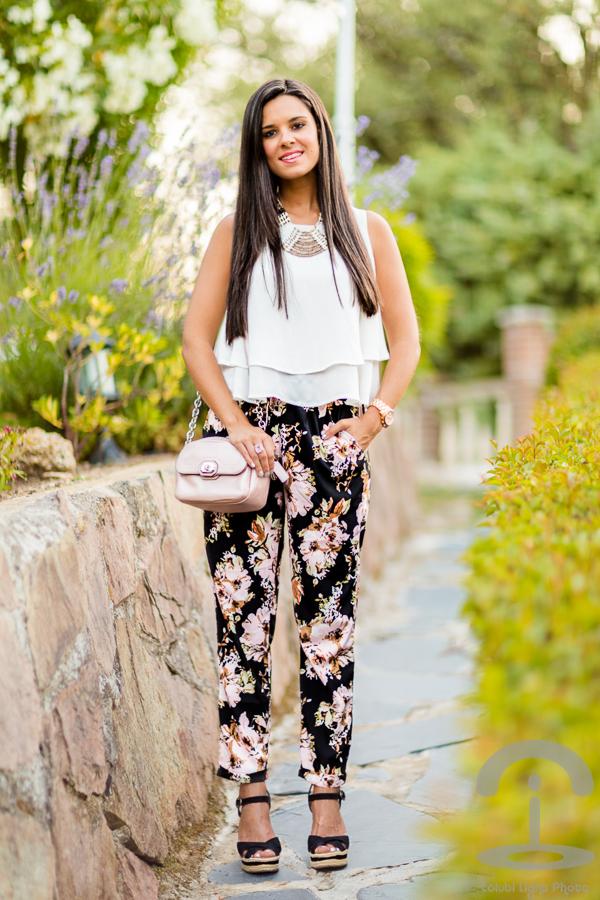 Pantalones de flores Floral pants Crimenes de la Moda
