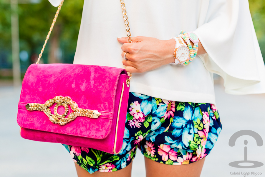 Floral shorts Pantalones flores Crimenes de la Moda