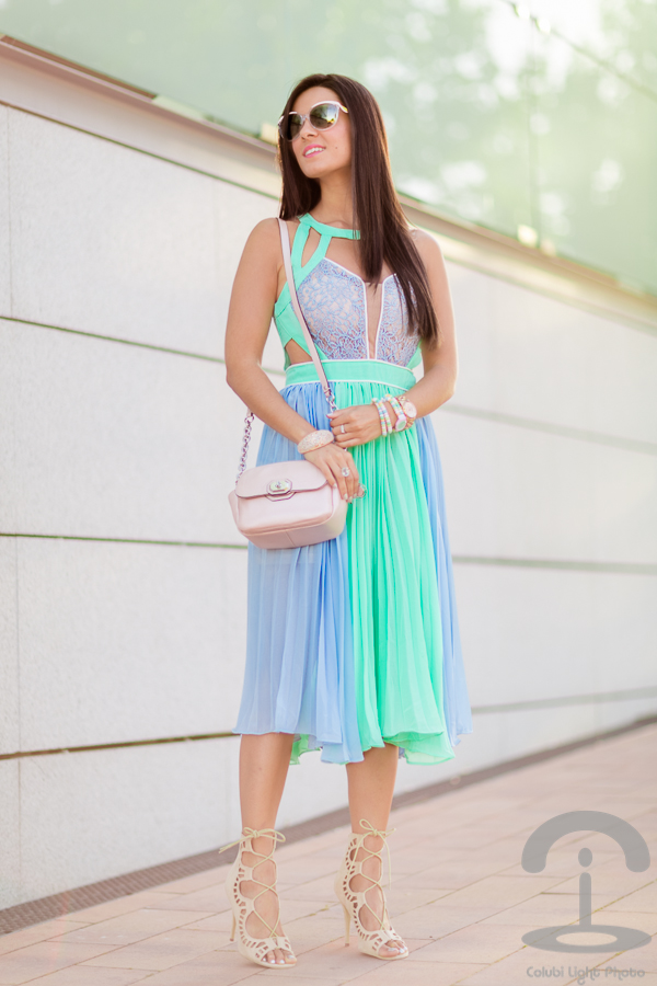 Summer pleated dress Crimenes de la Moda