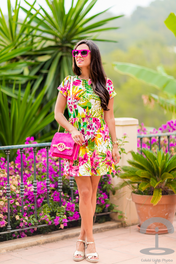 Vestido tropical dress Italia Independent Sara Navarro Crimenes de la Moda