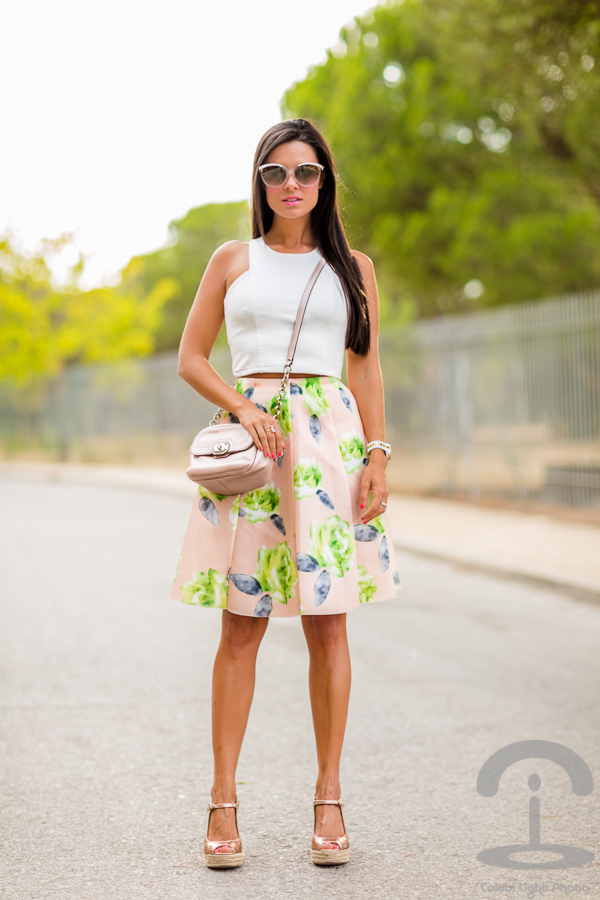 Floral Midi Skirt Chicwish Crimenes de la Moda