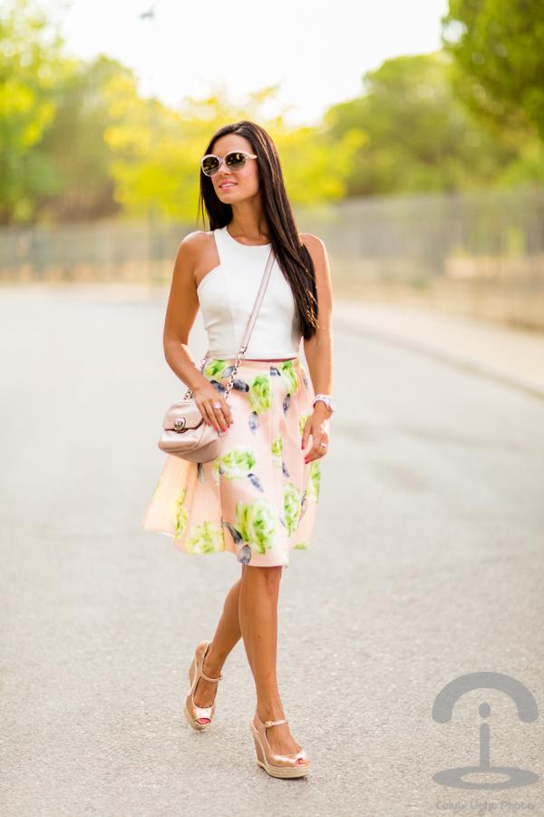 Floral Midi Skirt Chicwish Crimenes de la Moda