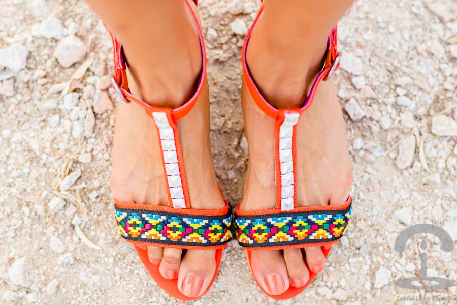 DIY Sandalias étnicas ethnic sandals Crimenes de la Moda