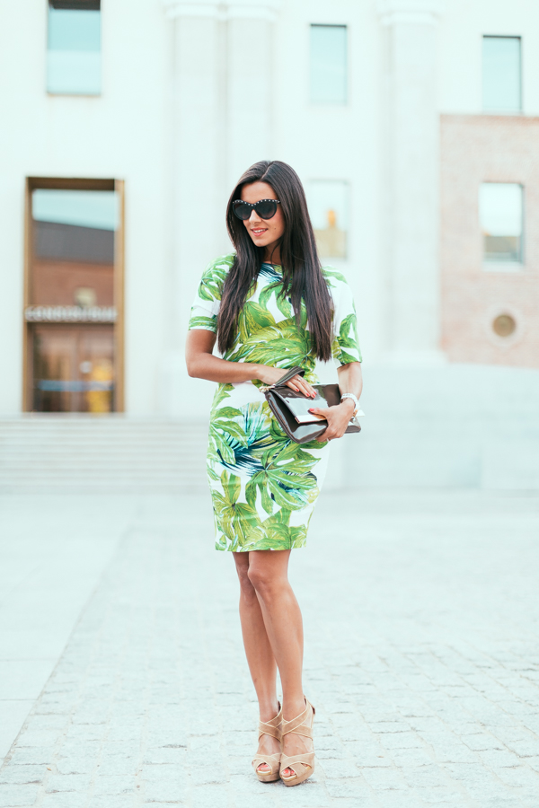 Tropical levaes dress vestido AX Paris Crimenes de la Moda