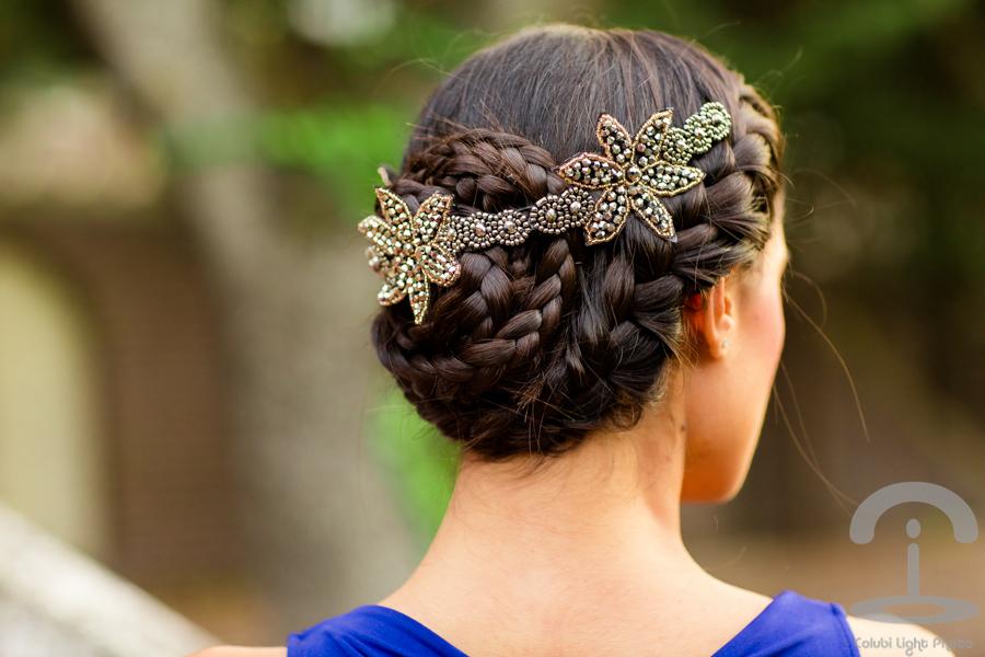DIY Tocado con pedrería Embellished headband Peinado trenzas Crimenes de la Moda