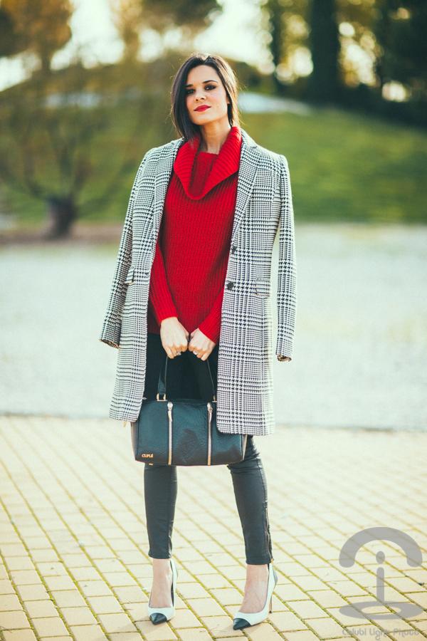 Anne Klein style Corte Ingles abrigo pata de gallo Crimenes de la Moda