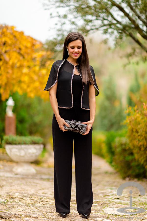 Look de fiesta con pantalones Crimenes de la Moda