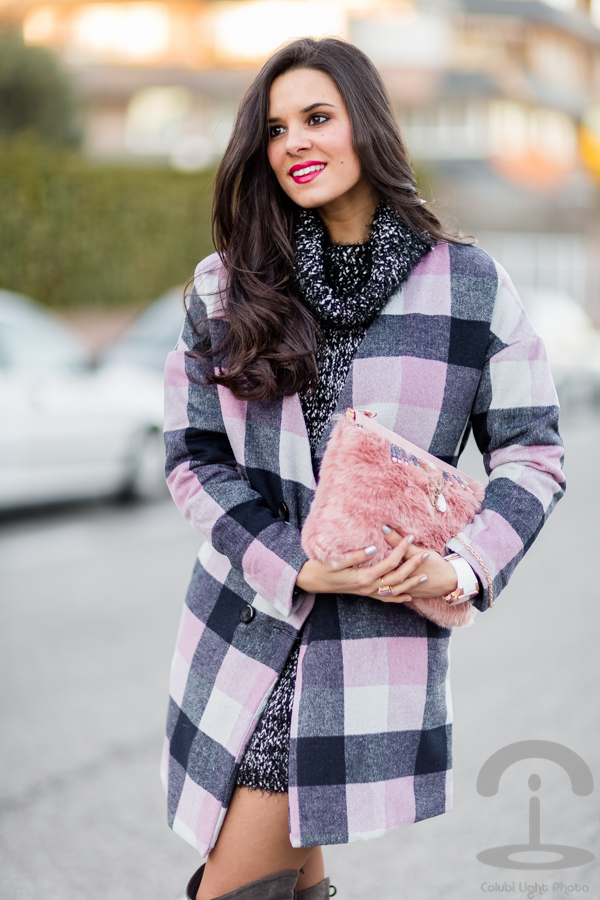 Bolso de pelo peluche DIY Crimenes de la Moda Abrigo de cuadros