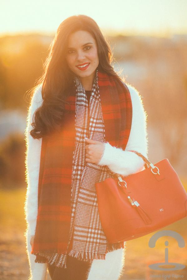 Maxi bufanda cuadros plaid scarf Crimenes de la Moda