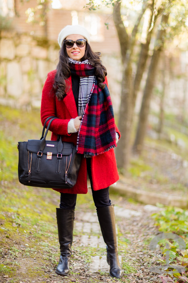 Maxi bufanda Plaid scarf Crimenes de la Moda