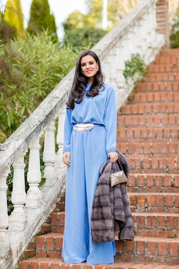 Look de invitada con pantalón + top Crimenes de la Moda